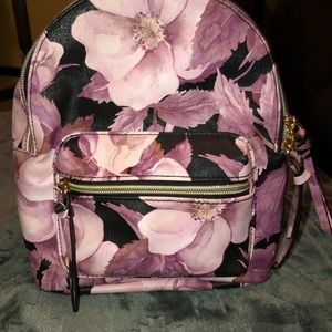 Cute floral small backpack
